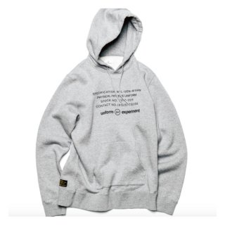 【uniform experiment】UEN PHYSICAL FITNESS PULL OVER HOODY