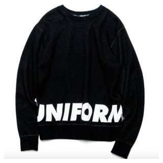 【uniform experiment】4 WAY WOOL CREW NECK CUT SEWN