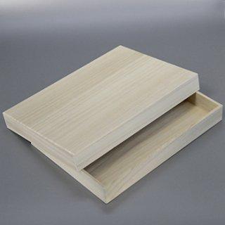 桐箱 長方形カm W305D215H35 A4サイズの書類箱