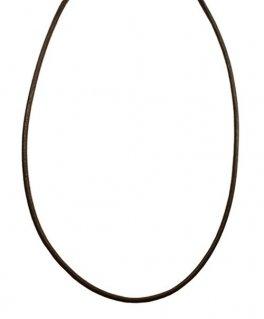 シルバー925金具 日本製 本革 牛 レザーコード 革紐 幅約2mm [ダークブラウン] 40cm-80cm