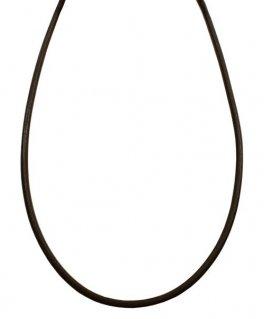 シルバー925金具 日本製 本革 牛 レザーコード 革紐 幅約2.8mm [ダークブラウン] 40cm-80cm