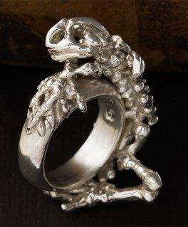 [Sons of TC / サンズ オブ ティーシー] Rg-17 Skeleton frog ring カエル 骨格 シルバーリング
