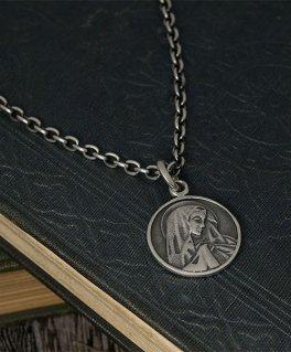 聖母マリア レリーフコイン シルバーペンダントトップ