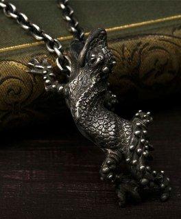 [Sons of TC / サンズ オブ ティーシー] Pt-20 Leopard gecko top トカゲ シルバーペンダントトップ