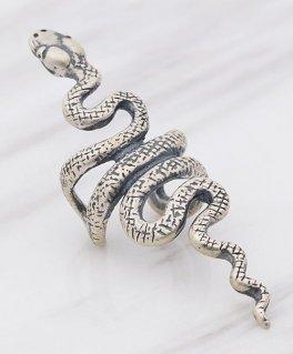 ロングスネーク 蛇 ヘビ シルバーイヤーカフ (1個/片耳用)