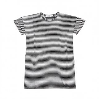 T-shirt dress (black/white Stripe)