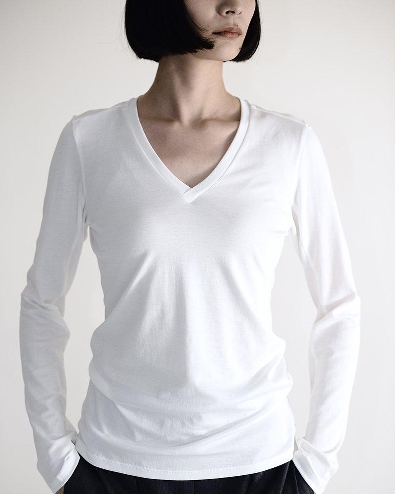 intoca.長袖VネックTシャツ