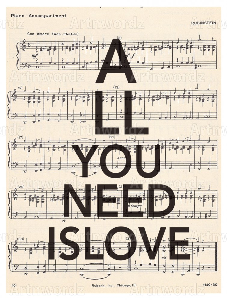 All U Needs Is Love Music