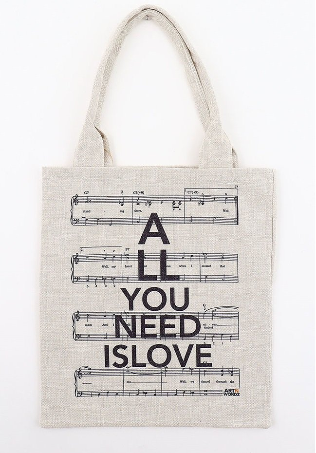 トートバックL(All U Need is Love Music)