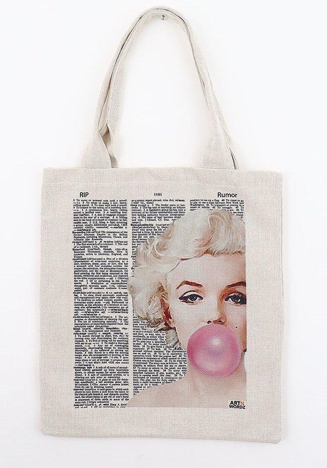 トートバックL(Marilyn Bubble)