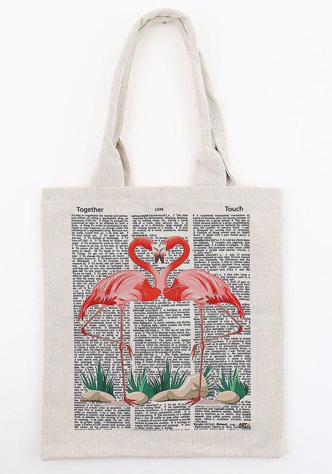 トートバックL(Flamingo Love)