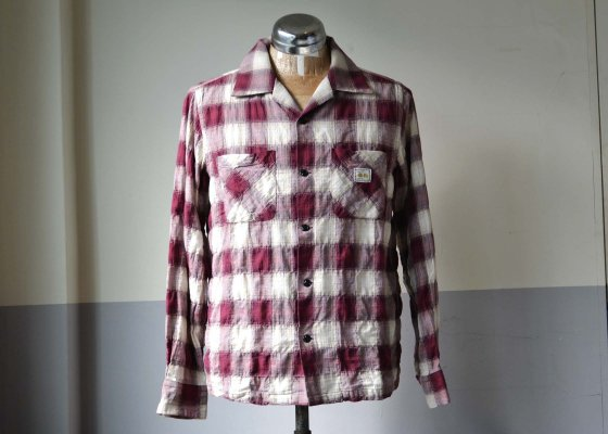 GANGSTERVILLE(ギャングスタービル) CHECK SHIRTS - L/S Burgandy