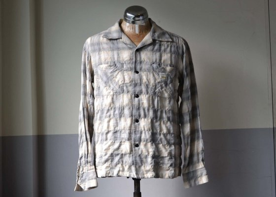 GANGSTERVILLE(ギャングスタービル) CHECK SHIRTS - L/S GRAY