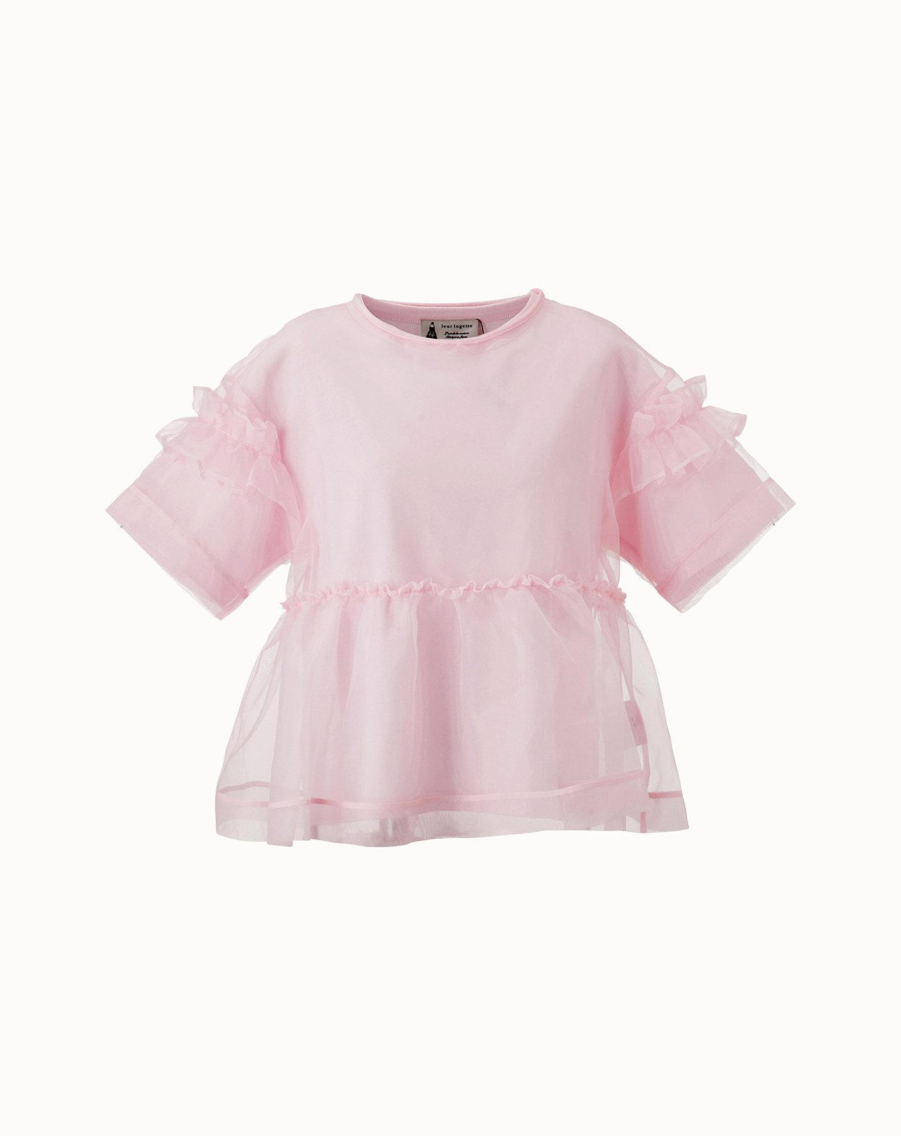 Organdy Layered Top - Pink