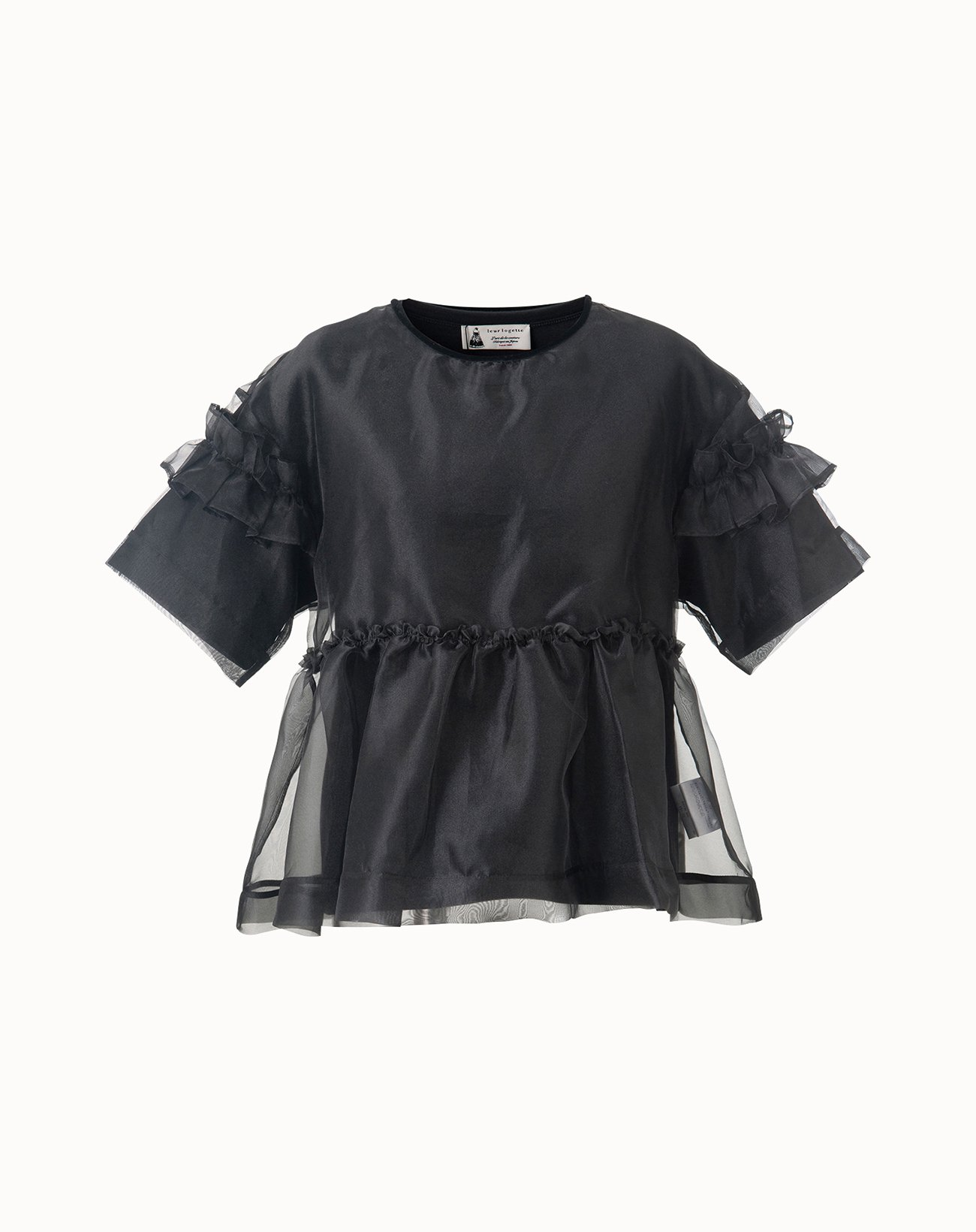Organdy Layered Top - Black
