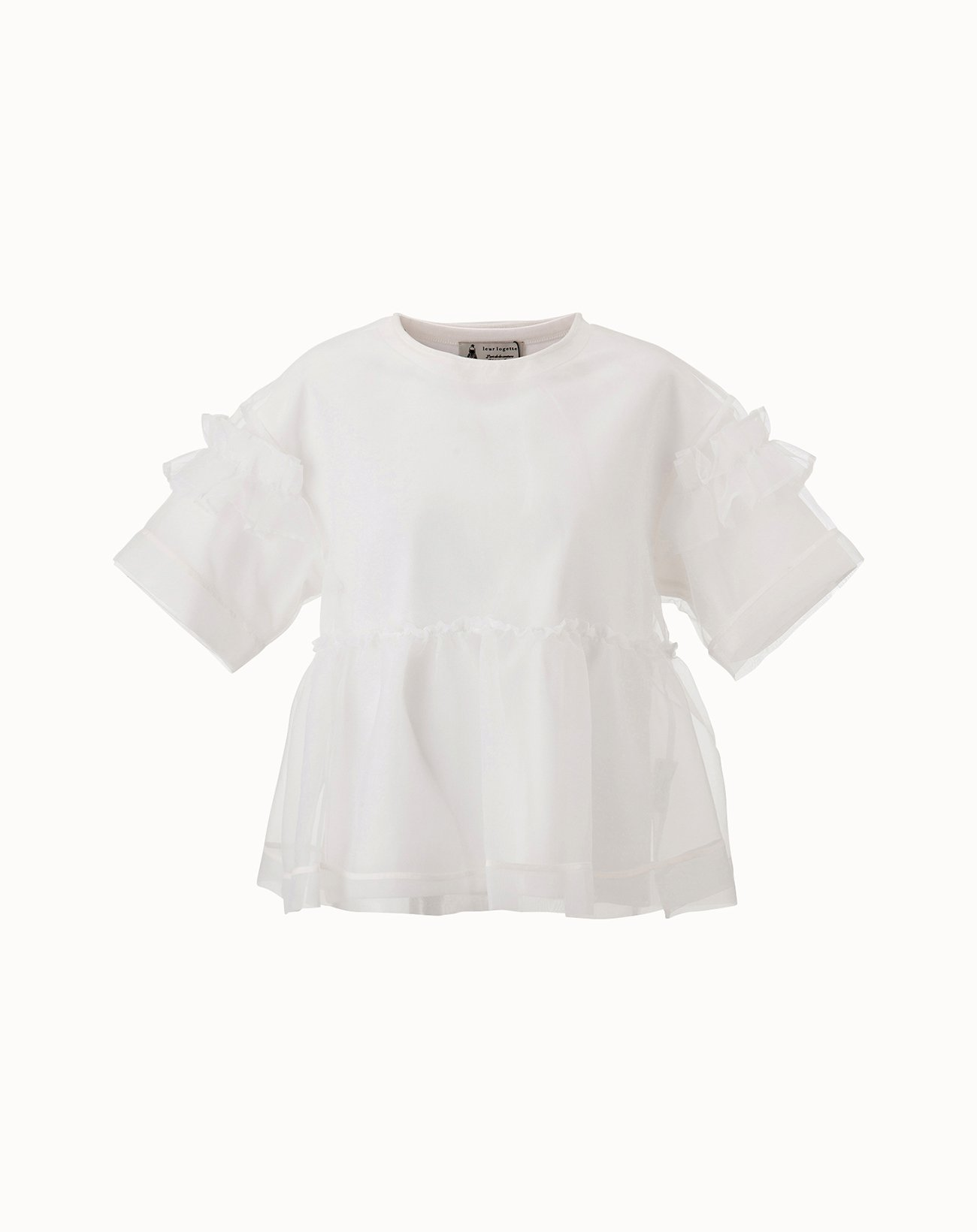 Organdy Layered Top - Off White