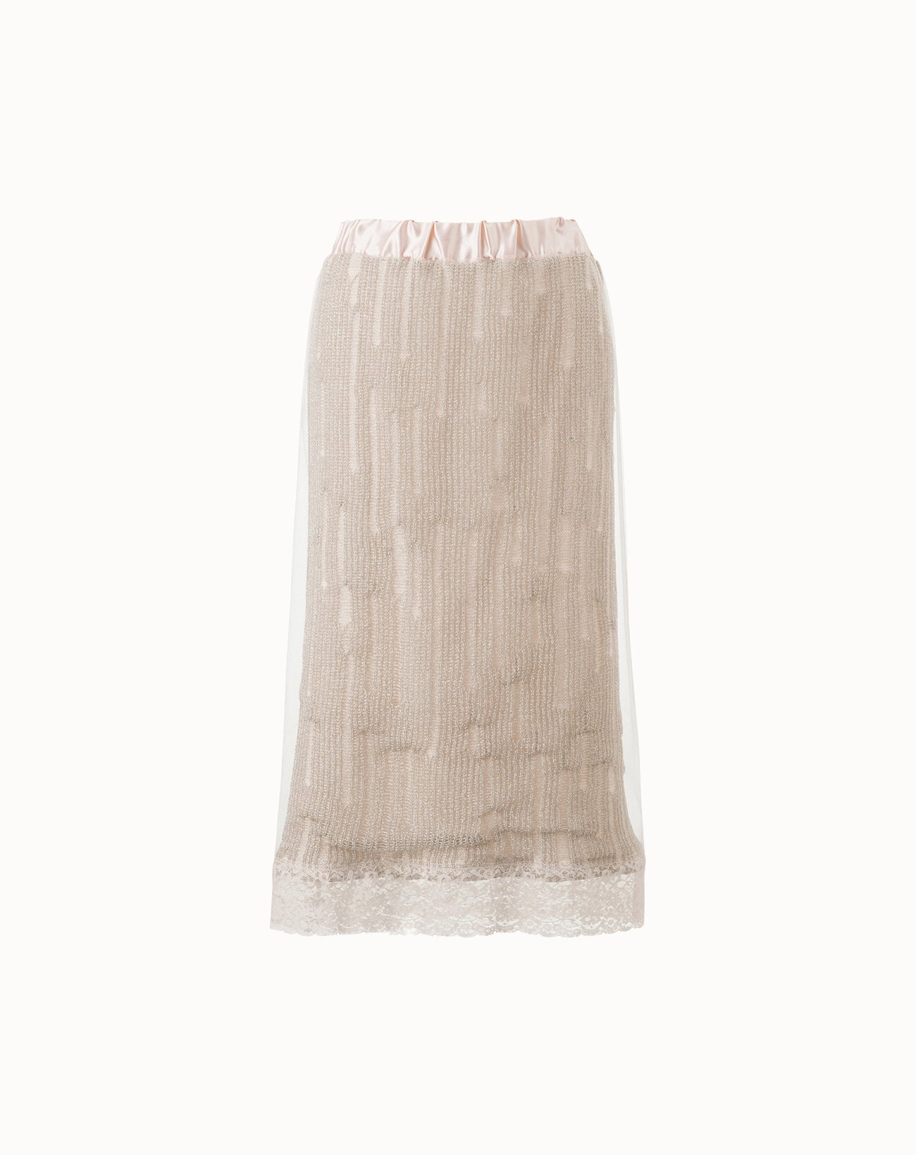 Lame Knit Skirt  - Off White