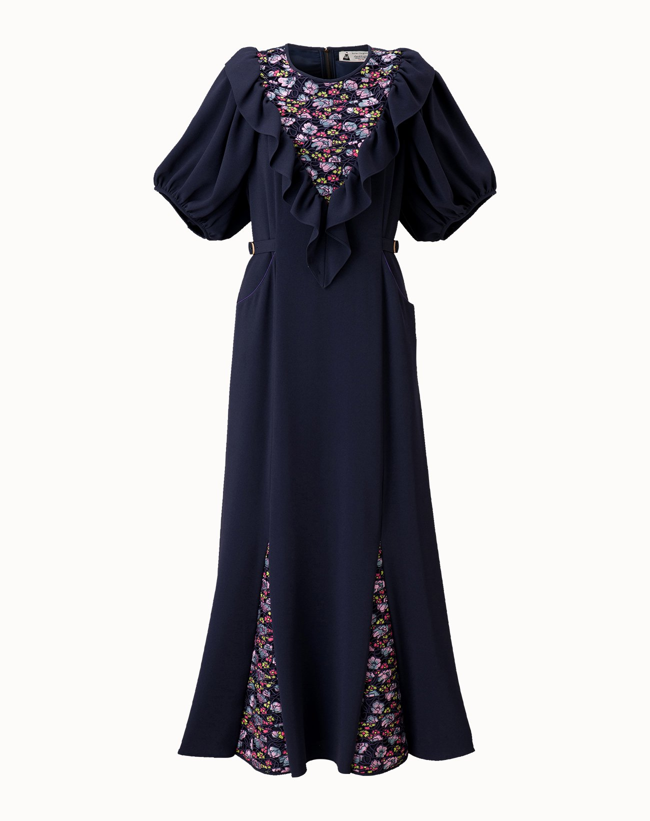 Couture Lace Dress - Navy