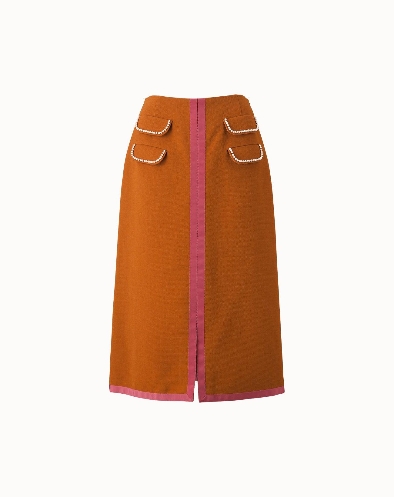 Triple Cloth Skirt - Brown