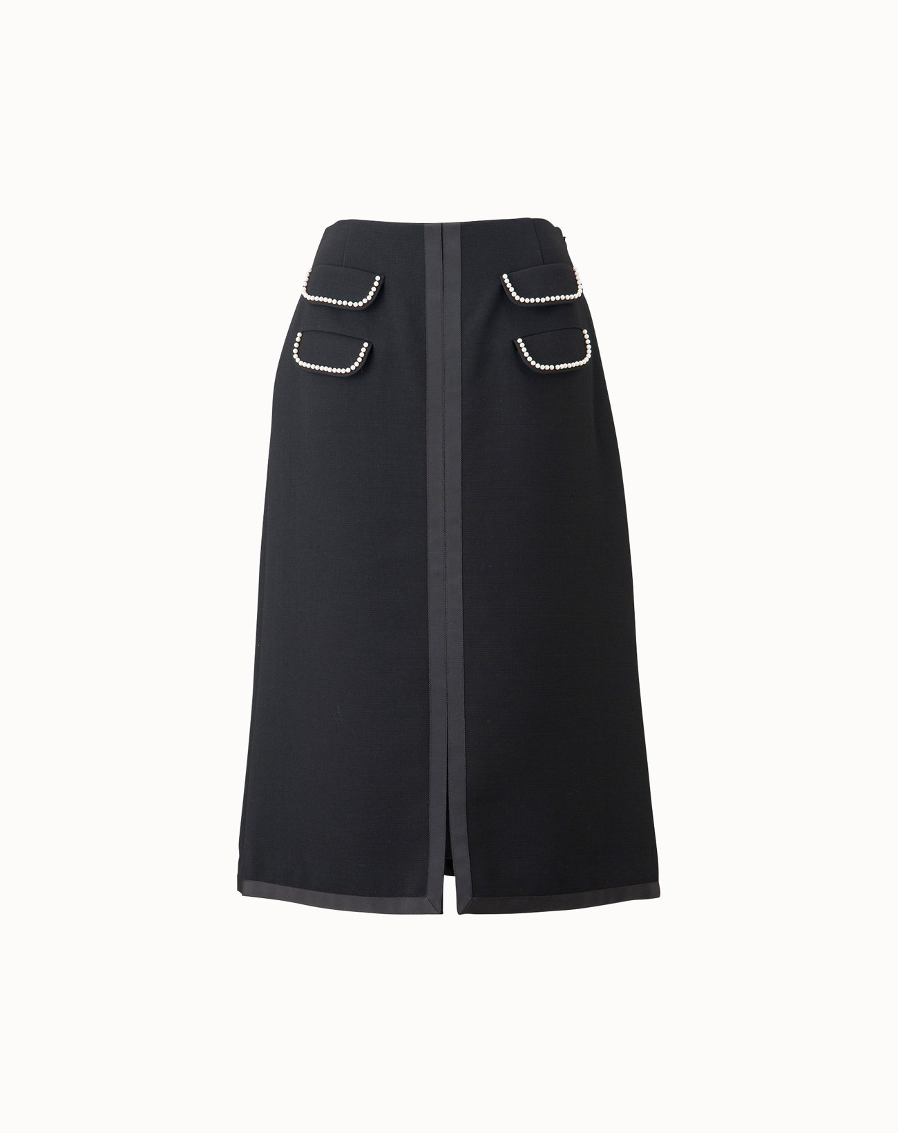 Triple Cloth Skirt - Black