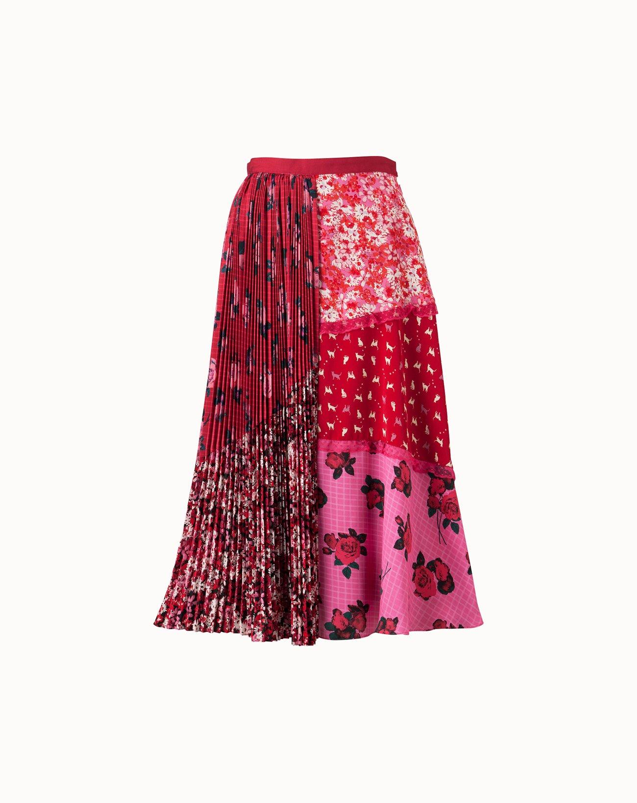 Dream Rose Skirt  - Red