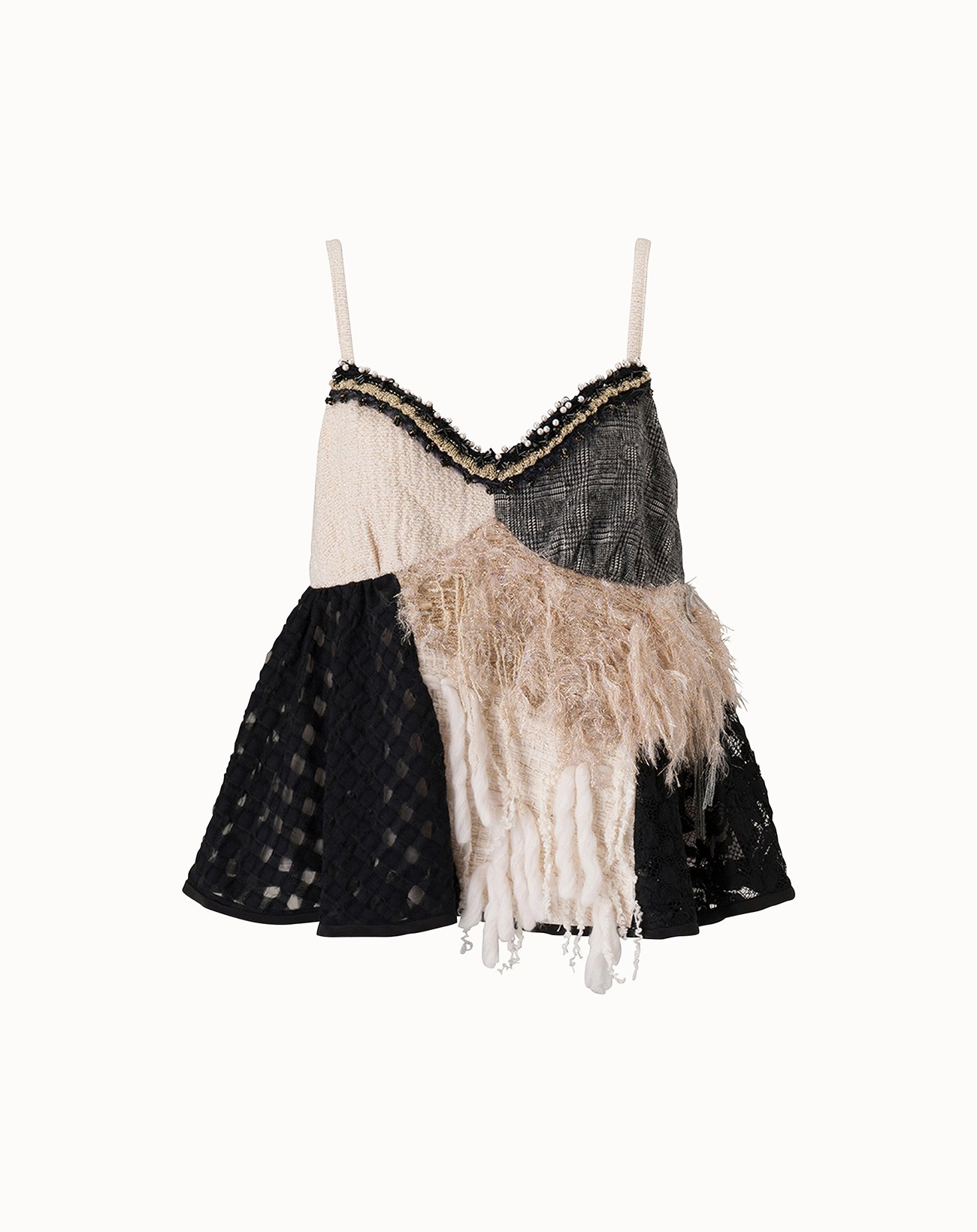 Roving Tweed Camisole - Off White