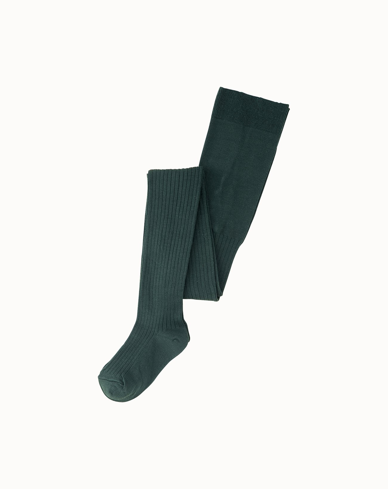 leur logette - Silk Rib Tights - Green