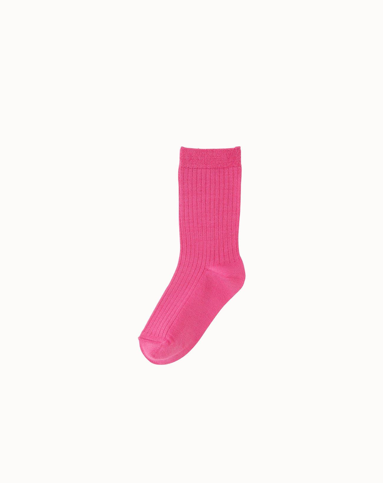 leur logette - Silk Rib Socks - Pink