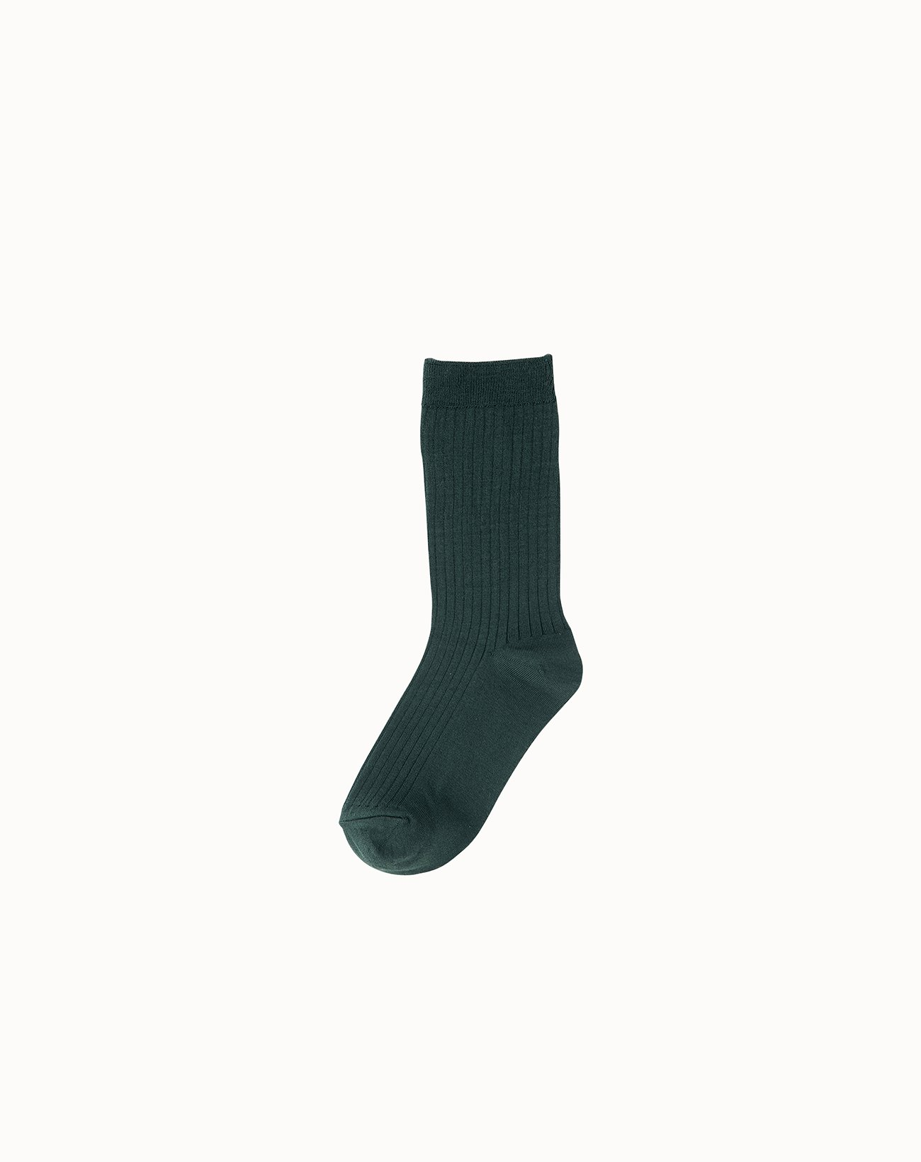 Silk Rib Socks - Green