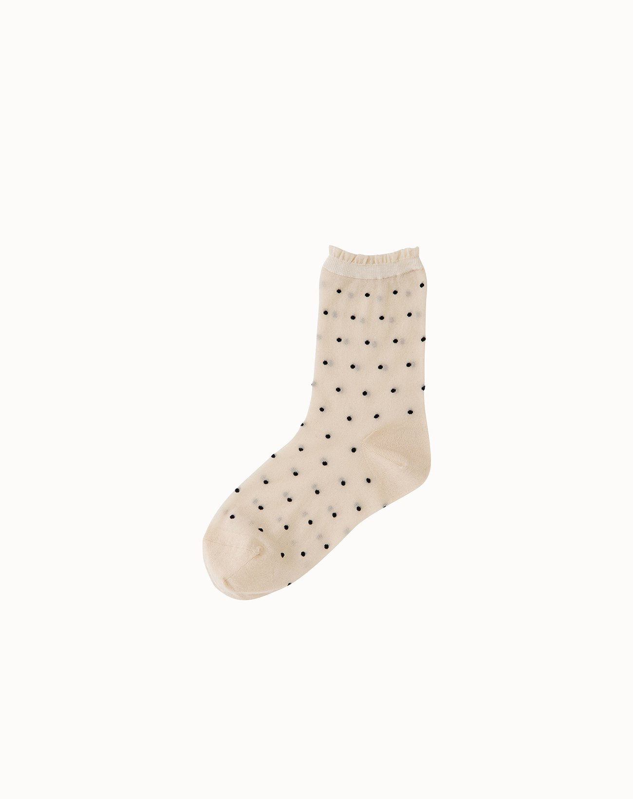 leur logette - Small Dots Socks-Cream