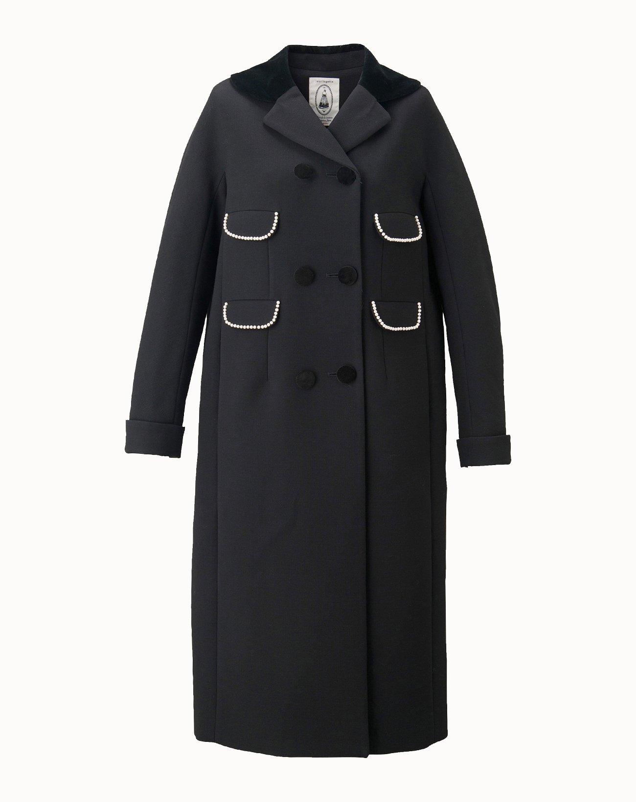 Triple Cloth Coat - Black