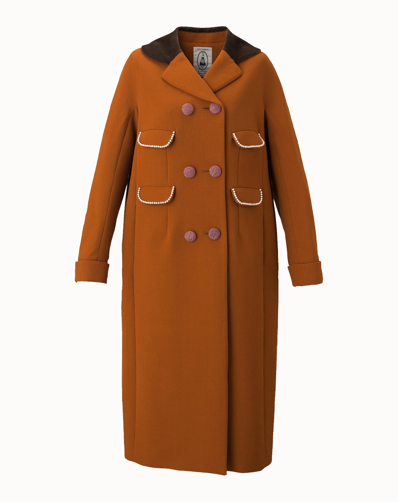 Triple Cloth Coat - Brown