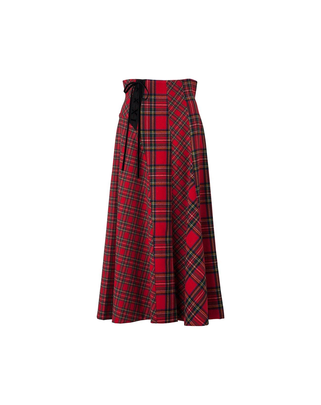 Tartan Check Skirt  - Red
