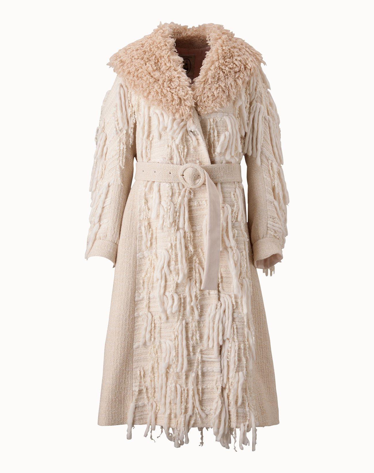 Roving Tweed Coat - Off White