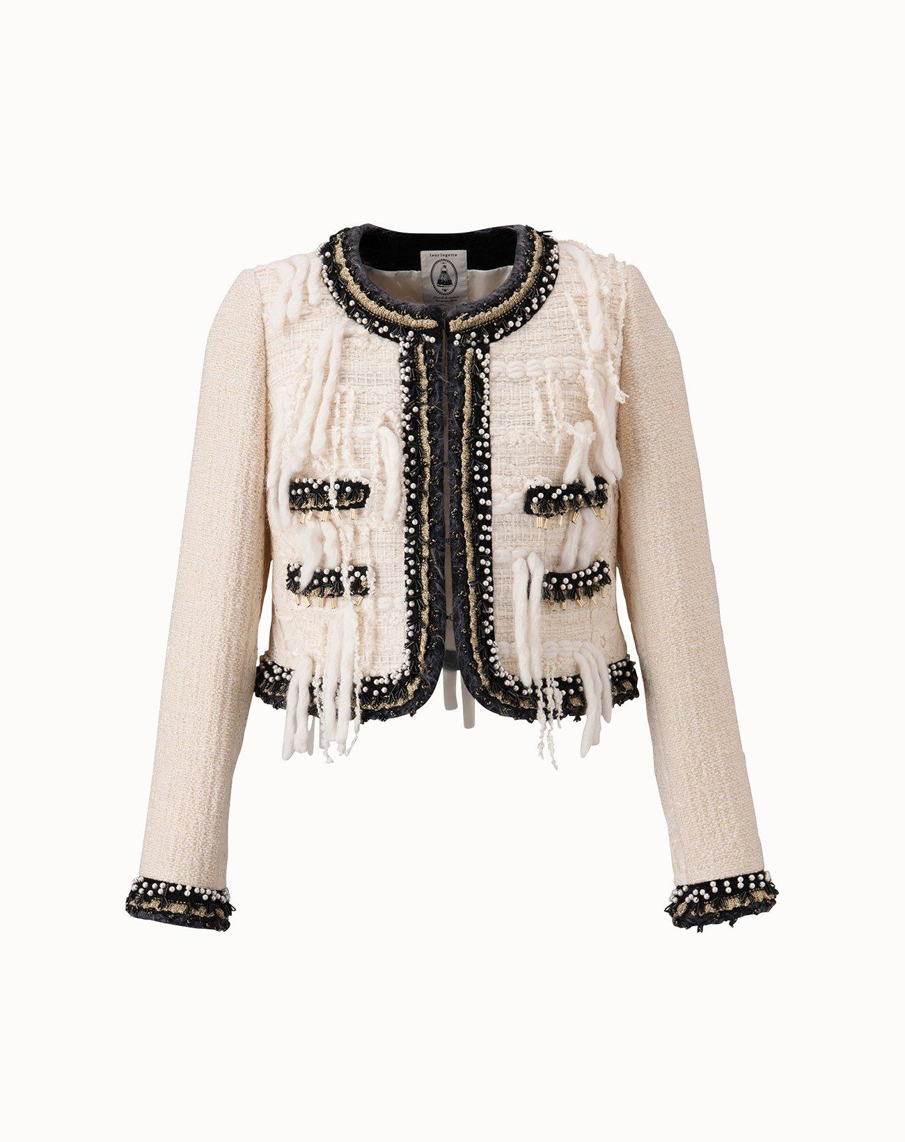 Roving Tweed Jacket - Off White