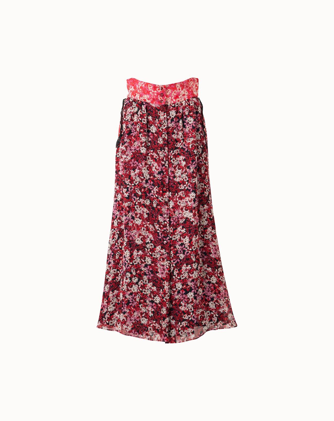 Palette Flower Skirt - Red