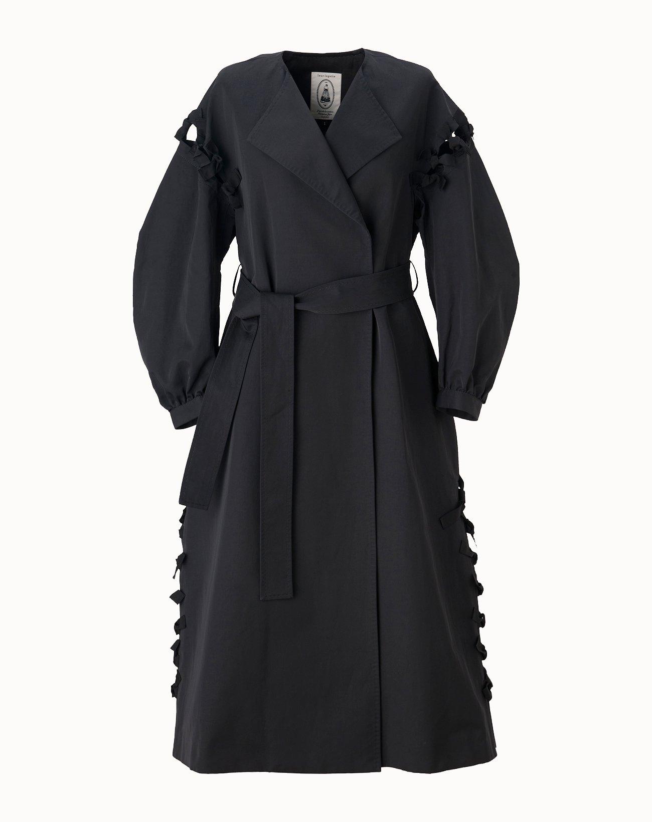 leur logette - Vintage Twill Coat - Black