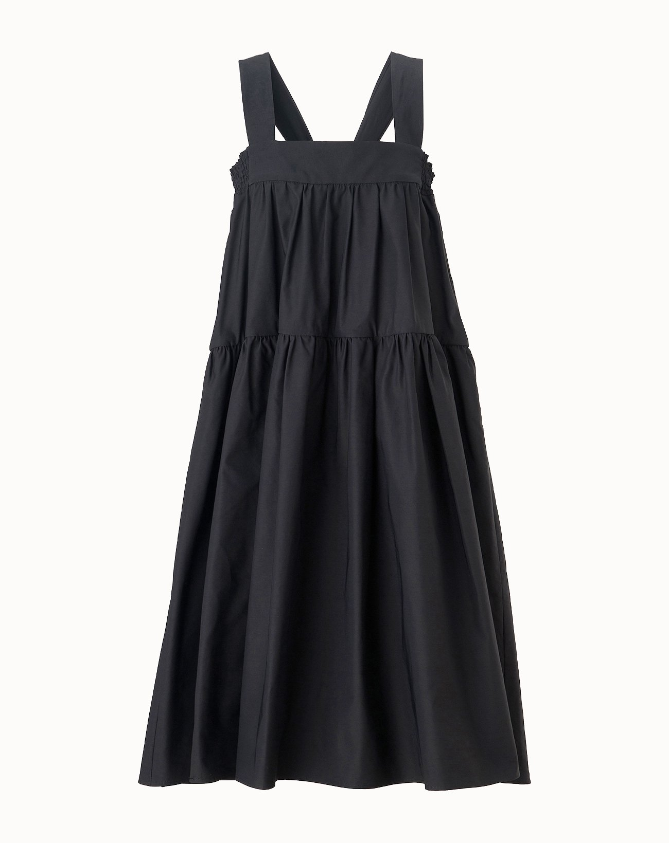 leur logette - Vintage Twill Dress - Black