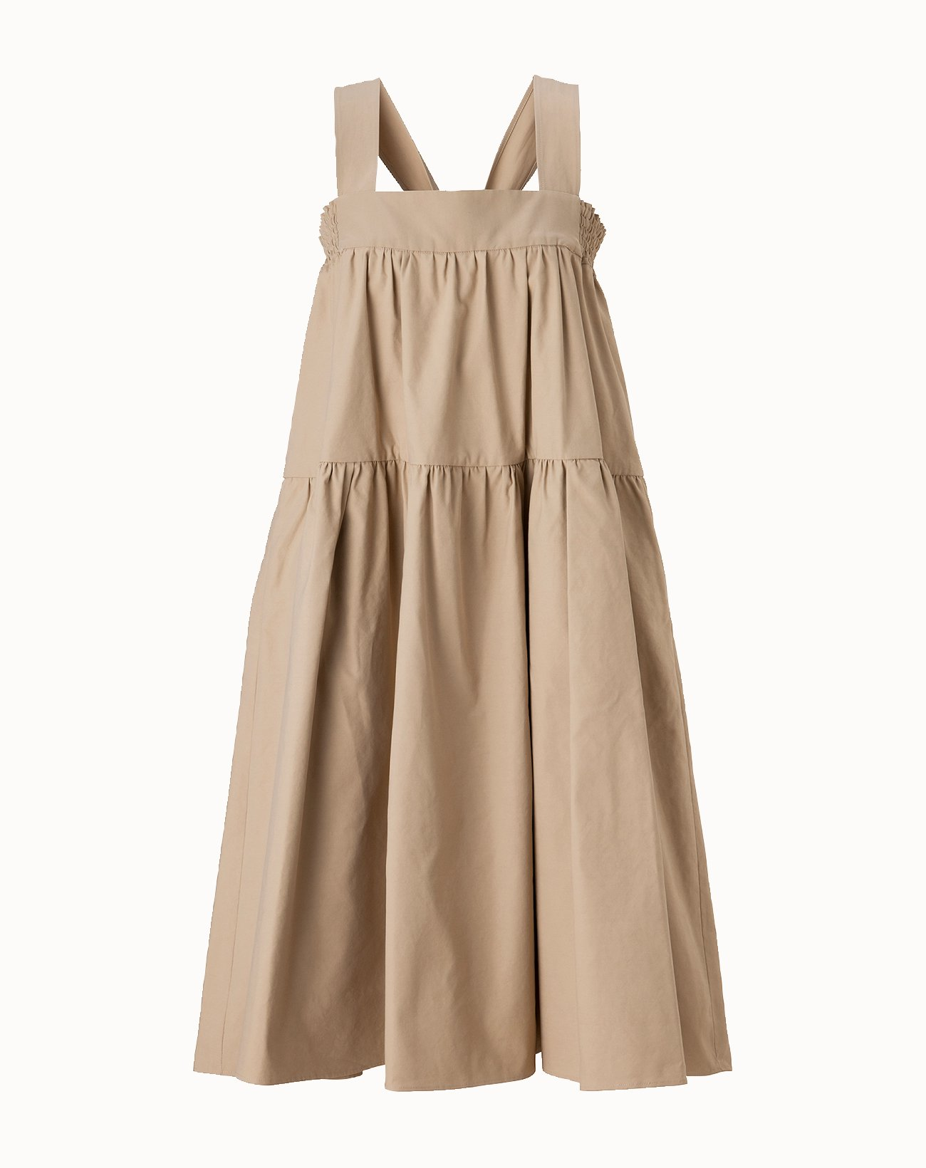 Vintage Twill Dress - Beige