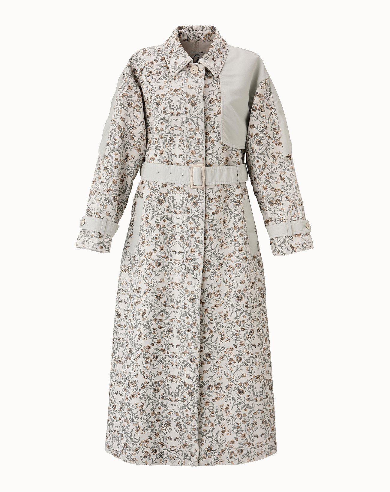 leur logette - Vintage Garden Printed Coat - Off White