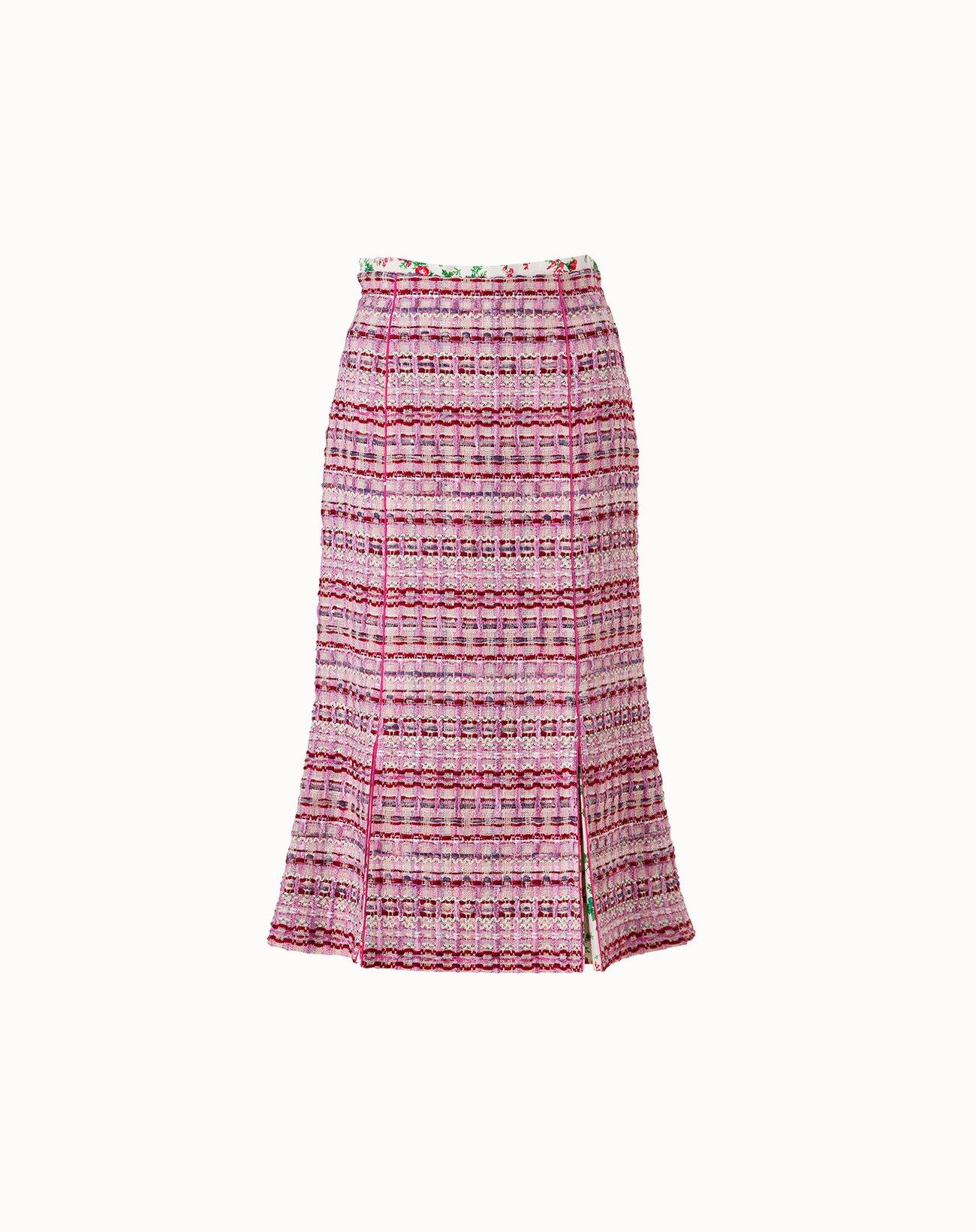 Tweed Skirt - Pink