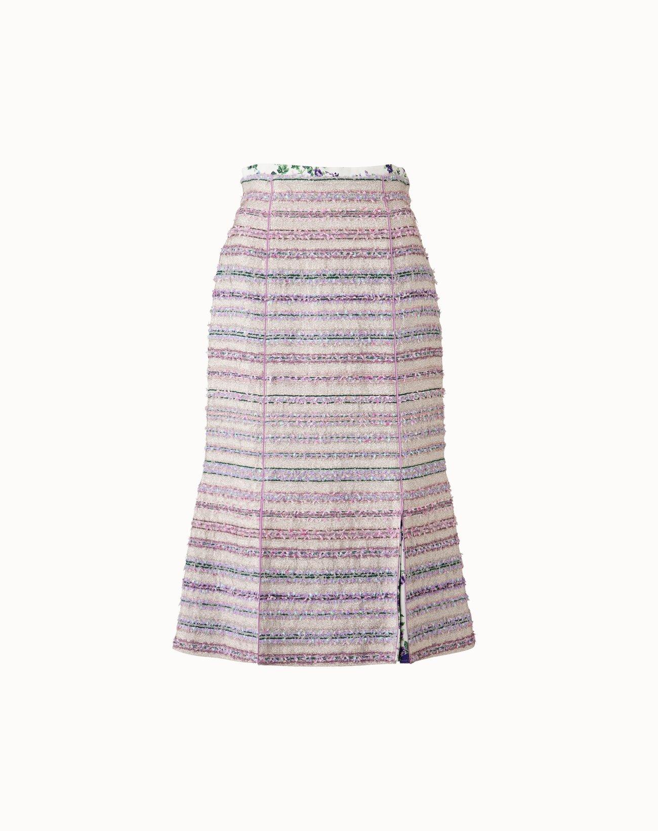 Tweed Skirt - Silver