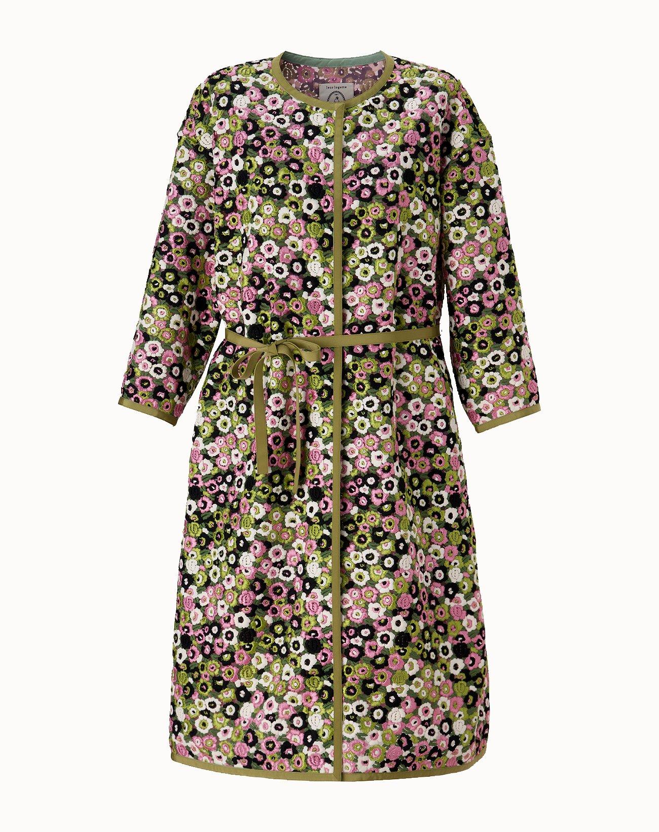 leur logette - Grace Flower Coat - Green