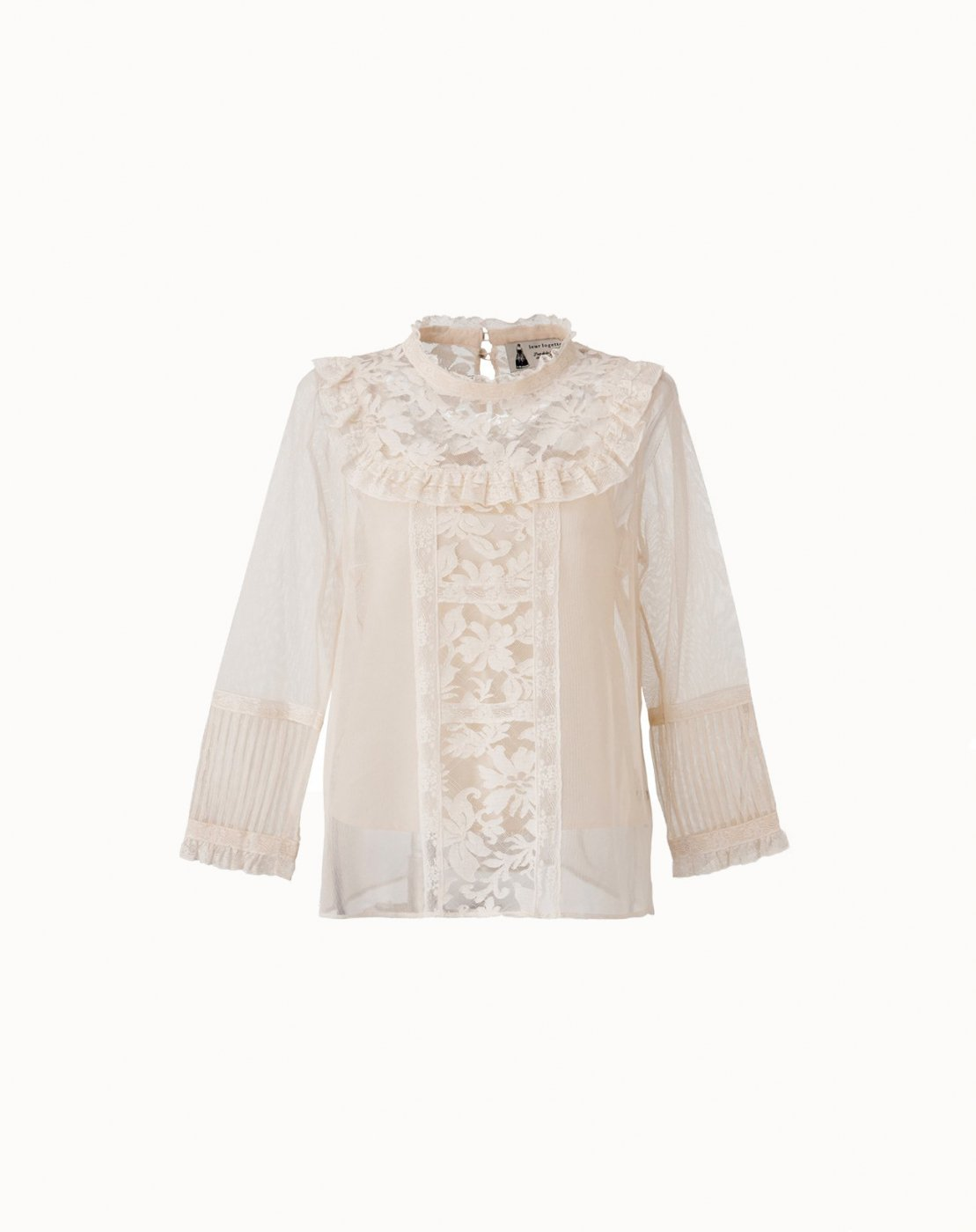 leur logette - 再入荷−Cotton Tulle Lace Blouse - Cream