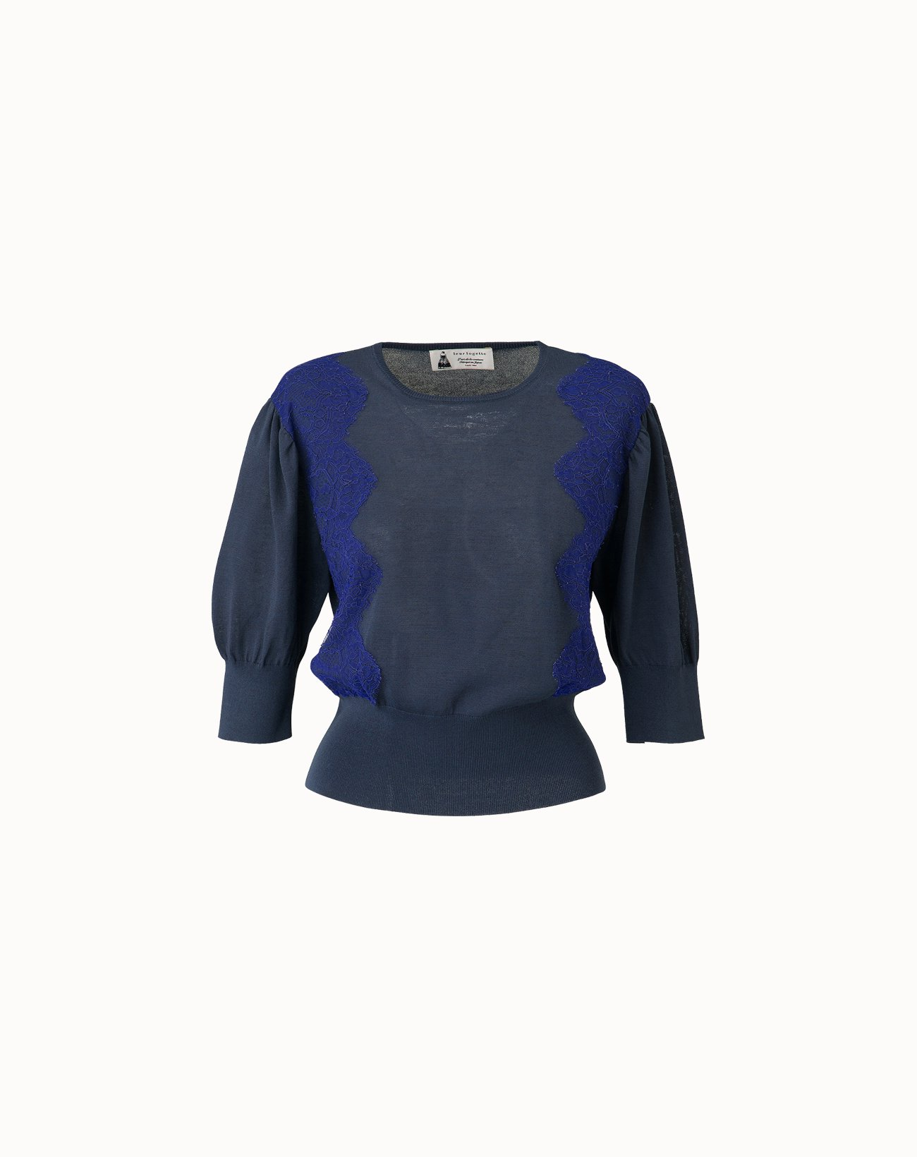 Cotton Silk Top - Navy