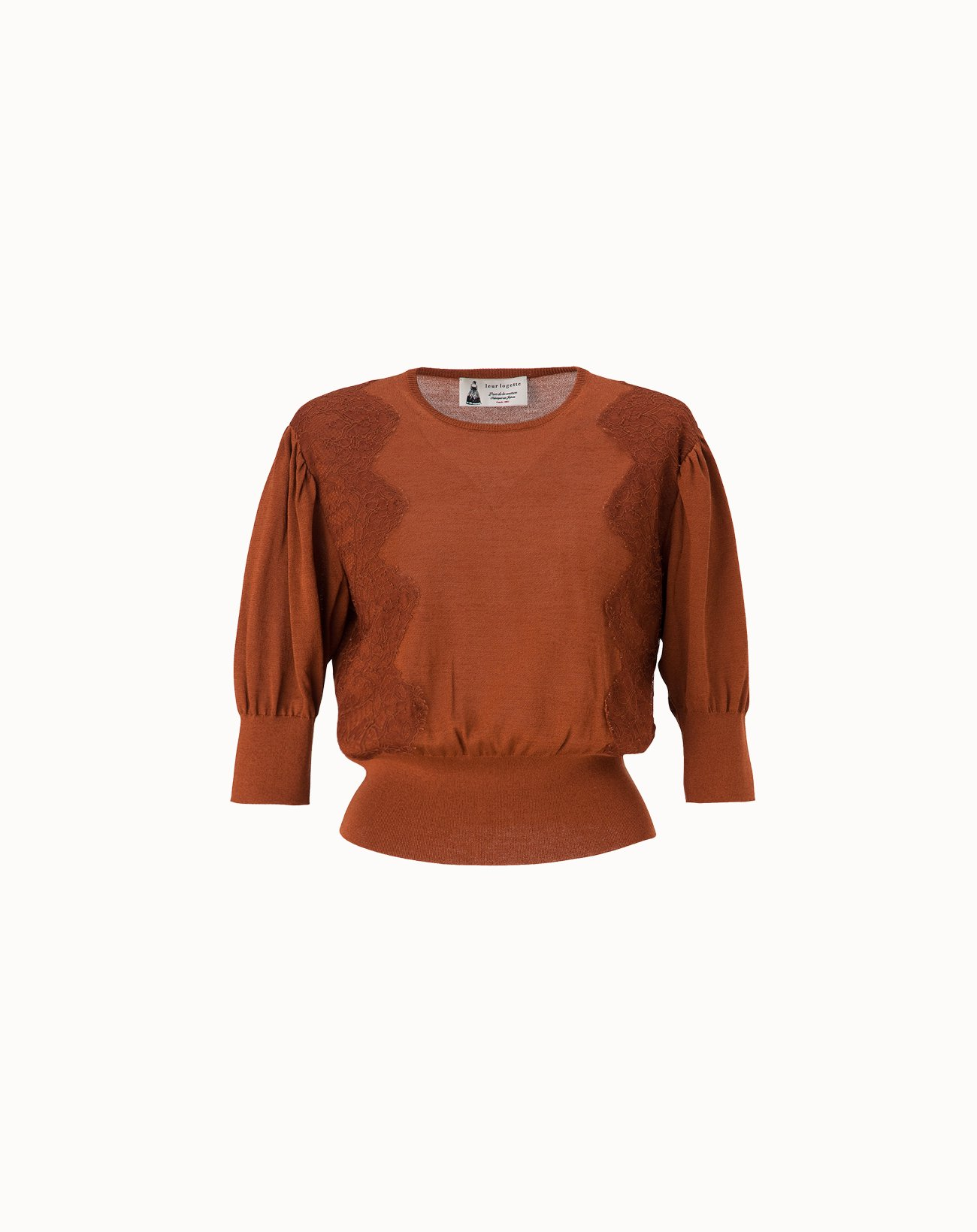 Cotton Silk Top - Brown