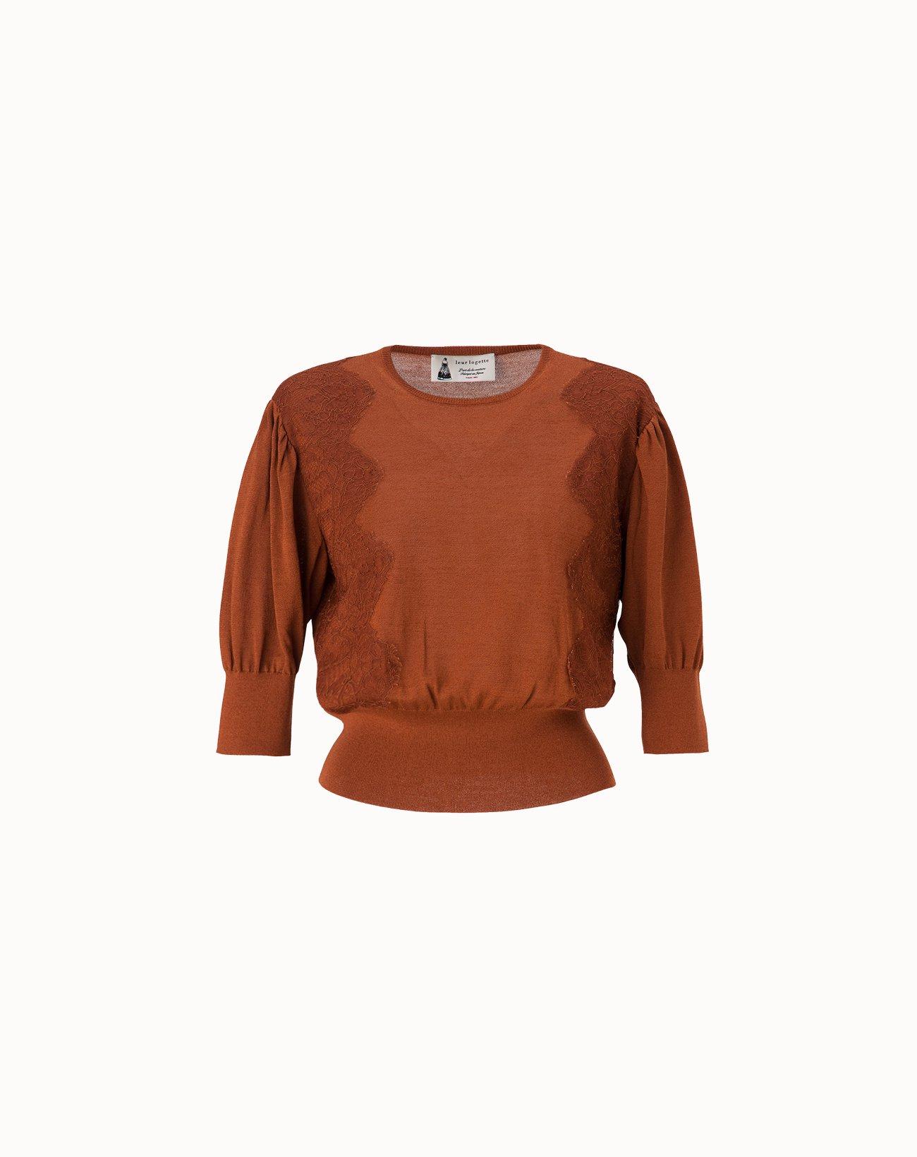 leur logette - Cotton Silk Top - Brown