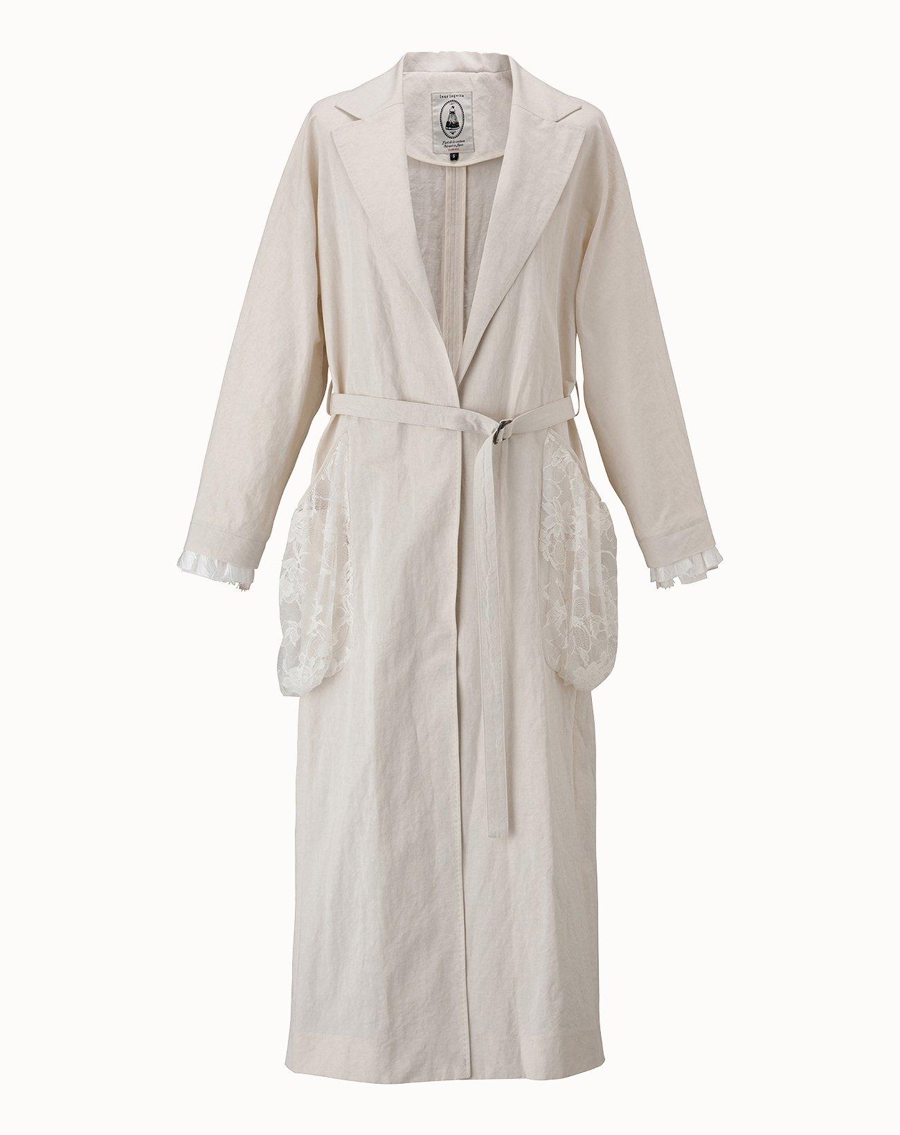 leur logette - Vintage Linen Coat - Off-White