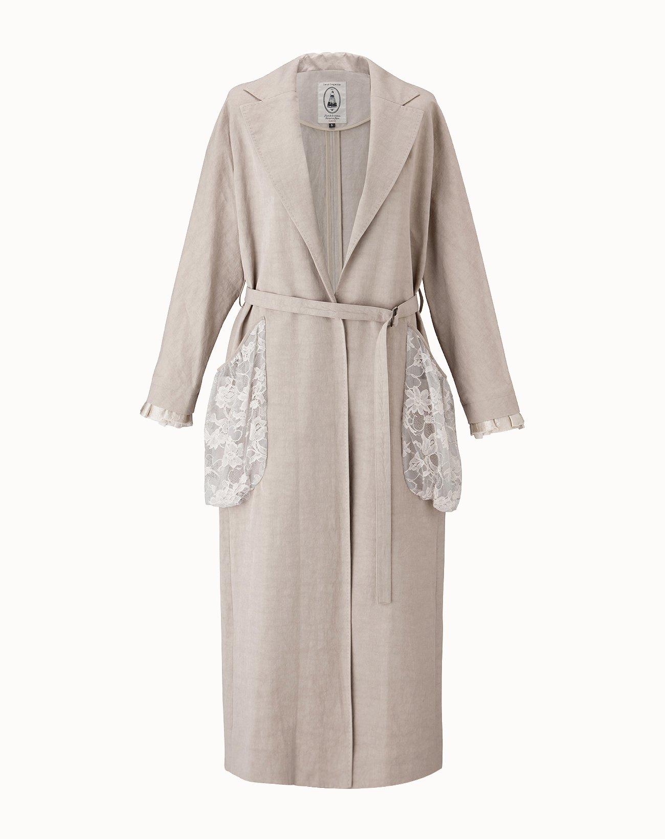 leur logette - Vintage Linen Coat - Beige