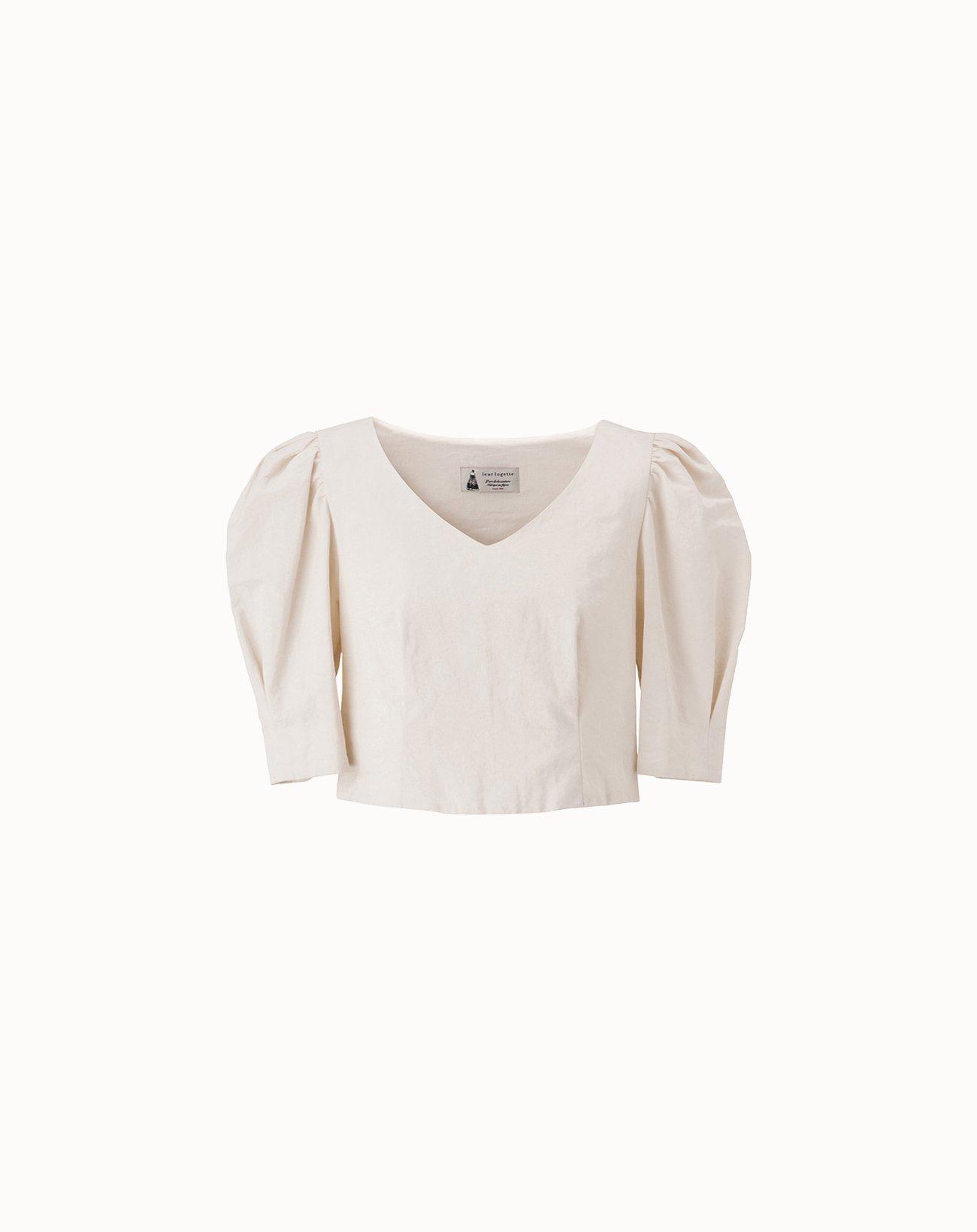 leur logette - Vintage Linen Blouse - Off-White